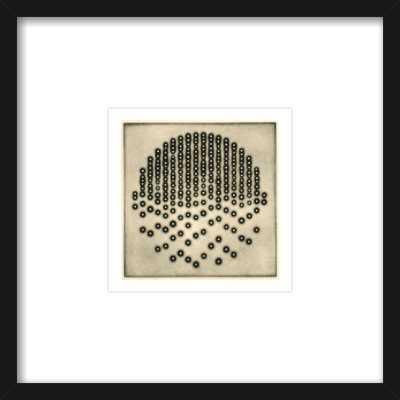 Five Elements - Fire - 8''x8'' - Thin black frame - Artfully Walls