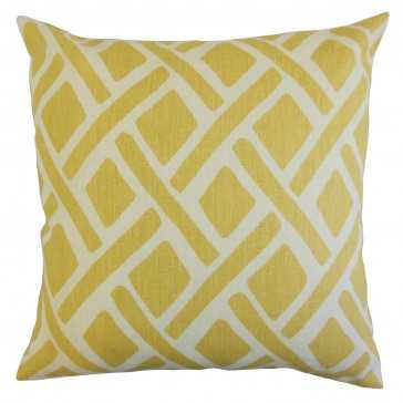 "Satchel Geometric Pillow Sunflower,  12"" x 18"" - Linen & Seam"