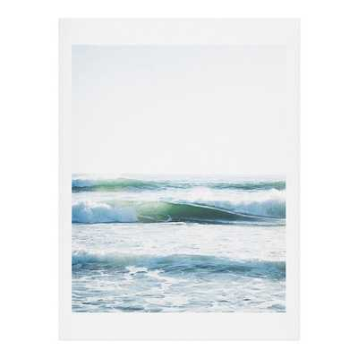 "RIDE WAVES Framed Wall Art - 19"" x 22.4"" - Weathered White Frame - Wander Print Co."