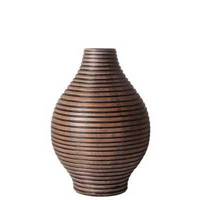 "Columbo Teardrop Short Vase Brown - 7"" - Target"