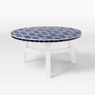 Mosaic Tiled Coffee Table - Decorator Print Top + White Base - West Elm
