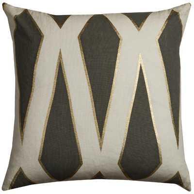 Fellner Cotton Casement Throw Pillow - Gray, 20x20, With Insert - Wayfair