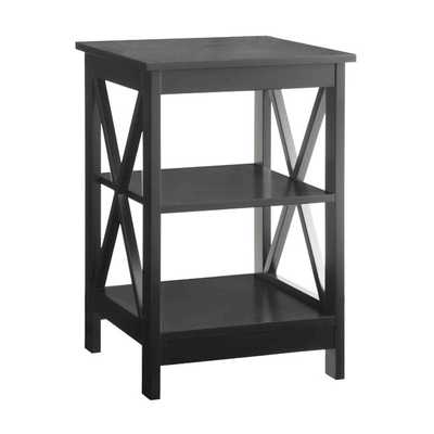 Oxford End Table-Black - Wayfair