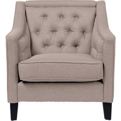 Baxton Studio Classic Retro Upholstered Arm Chair - Beige - Wayfair