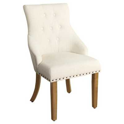 English Arm Dining Chair with Nailheads - Antique Flax - Target