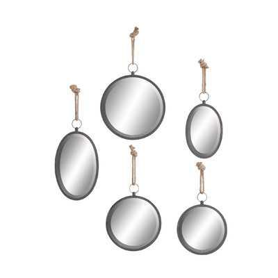 5 Piece Round Wall Mirror Set - Wayfair