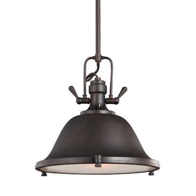 Stone Street 1 Light Bowl Pendant - Wayfair