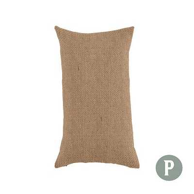 Ballard Essential Throw Pillow Cover - Natural Burlap - Pillow Insert Sold Separately - Ballard Designs