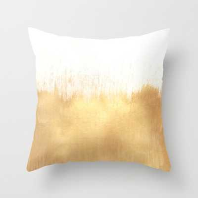 """Brushed Gold Pillow, 18""""Sq, Faux down pillow insert - Society6"""