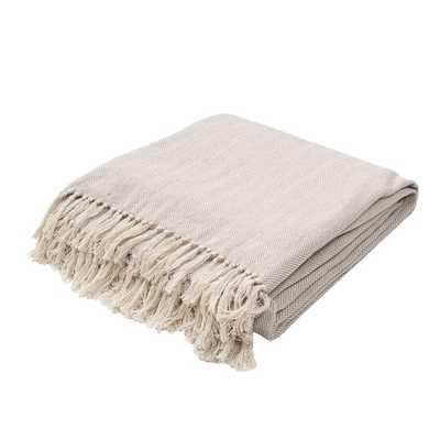 Handmade Cotton Grey Throw - Overstock