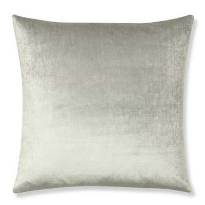 Velvet Pillow Cover, Gray - Williams Sonoma Home