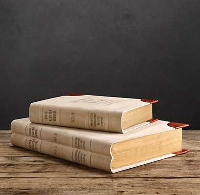ANTIQUARIAN BOOK BOXES - Large - RH
