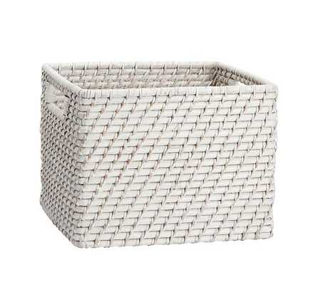 Clive Tightweave Utility Basket - Small, White - Pottery Barn