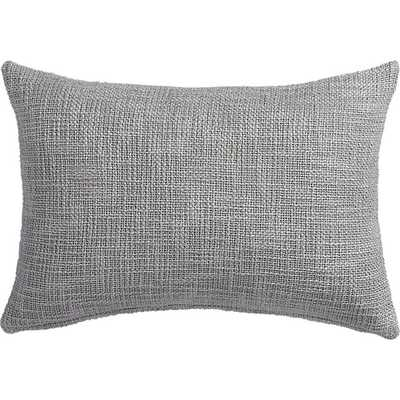 "18""x12"" glitterati silver pillow with down-alternative insert - CB2"