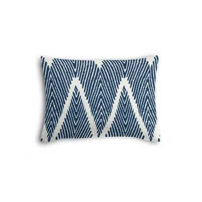 Tribal Navy Blue Chevron Boudoir Pillow - Loom Decor