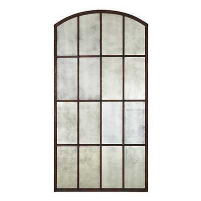 Amiel Arch Antiqued Leaner Mirror - Maple Brown - Ballard Designs