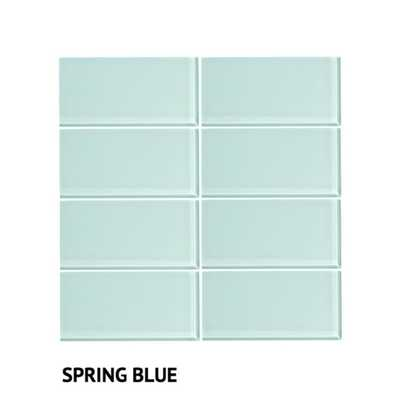 Vicci Design 3-inch x 6-inch 48-piece (6 Square Feet) Glass Subway Tile - Overstock