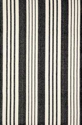 BIRMINGHAM BLACK WOVEN COTTON RUG - 9' x 12' - Dash and Albert