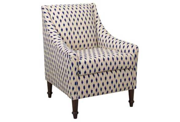 Holmes Chair, Navy Dot - One Kings Lane