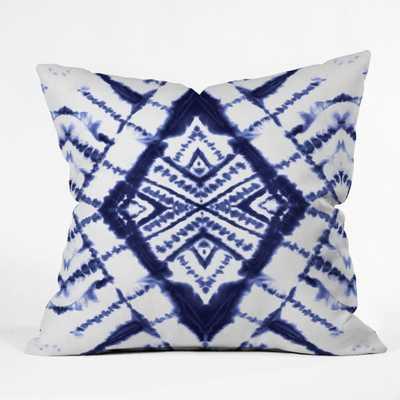 "DYE DIAMOND INDIGO Throw Pillow - 18"" x 18"" - Poly Insert - Wander Print Co."