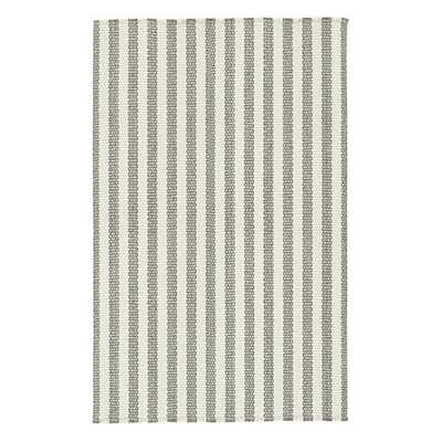 Vineyard Stripe Rug - Pewter - 7'x9' - Ballard Designs