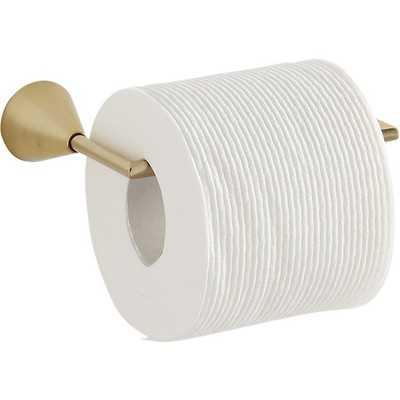 brass toilet paper holder - CB2