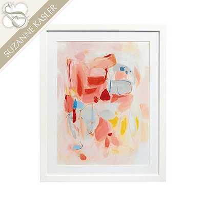 Suzanne Kasler Whisper Abstract Art - Print VI - 30X24 - Framed (Matte white) - Ballard Designs