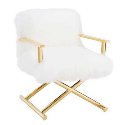 Jackie White Sheepskin Chair - Maren Home