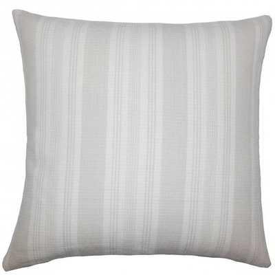 "Reiki Striped Pillow Putty -20"" x 20"" - Down Insert - Linen & Seam"