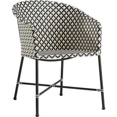 BRAVA DINING-LOUNGE GREY WICKER CHAIR - CB2