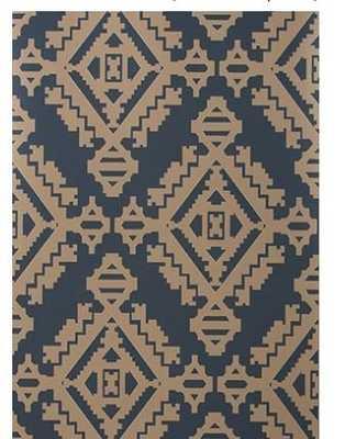 NAVAJO - INDIGO wallpaper - Walnut Wallpaper