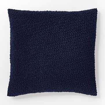 """Cozy Boucle Pillow Cover, 18""""x18"""", Nightshade - West Elm"""