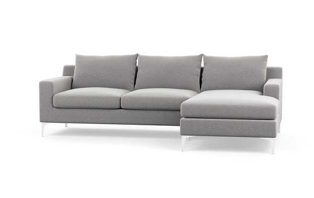 """Sloan Sofa with right chaise - Ash - 100"""" - Interior Define"""