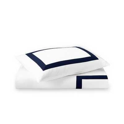 Monte Carlo Italian Bedding- queen, navy - Williams Sonoma Home
