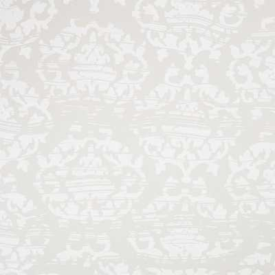 damask white and light grey traditional paste wallpaper - CB2