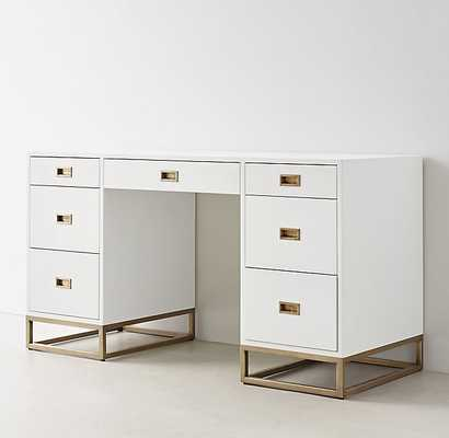 Avalon Storage Desk - Waxed White - RH Teen