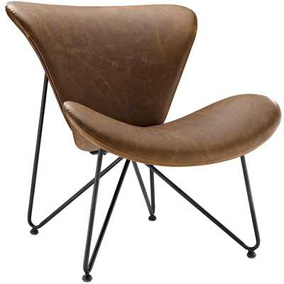 GLIDE LOUNGE CHAIR IN BROWN - Modway Furniture