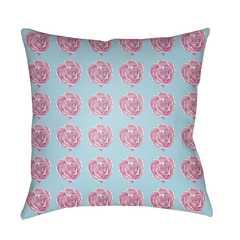 "Warhol WA-003 Pillow- 18"" x 18""  -Aqua, White, Bright Pink, Lilac- Insert Sold Separately - Neva Home"