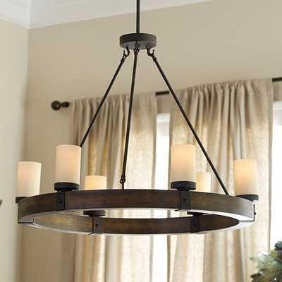Arturo 6-Light Round Chandelier, Wood - Ballard Designs