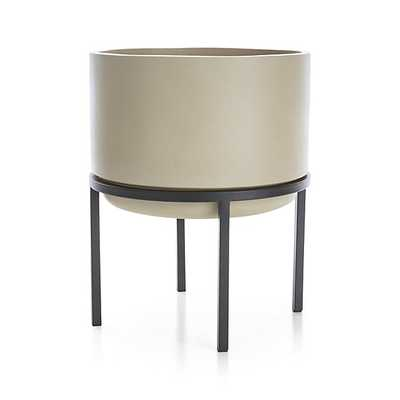 Sand Tall Planter with Stand - Crate and Barrel