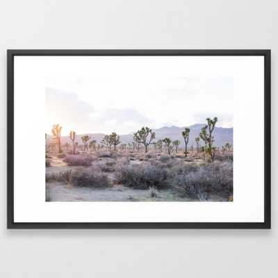 Joshua Tree Art Print Vector Black Large - Society6