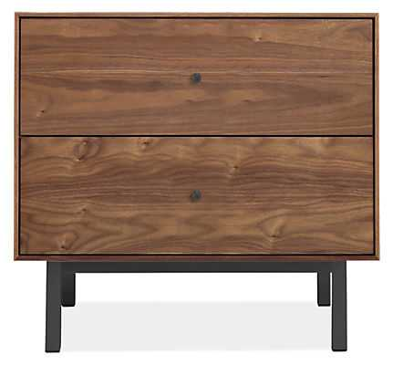 Hudson Nightstand with Steel Base - Room & Board