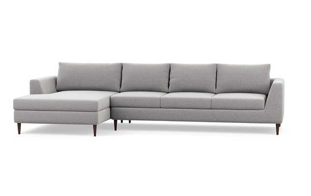 ASHER FABRIC SOFA WITH LEFT CHAISE - Ash Performance Felt - Interior Define