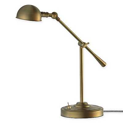 LED Adjustable Pharmacy Table Lamp in Antique Brass - Bed Bath & Beyond