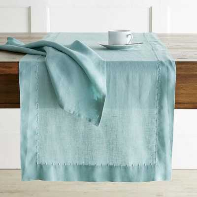Italian Washed Linen Table Runner - Williams Sonoma Home
