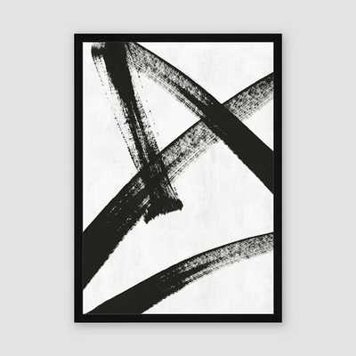 Framed Prints - Abstract Ink Brush - Running Man - West Elm