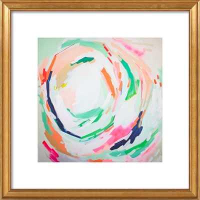 "Amy Artwork - 24"" x 24"" - Gold leaf wood, frame width 1.25""With mat - Artfully Walls"