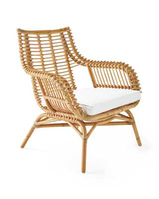 Venice Rattan Chair Cushion - Serena and Lily