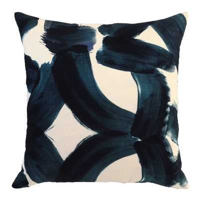 "Raye Ink Blue Pillow - 22"" x 22"" - High Fashion Home"