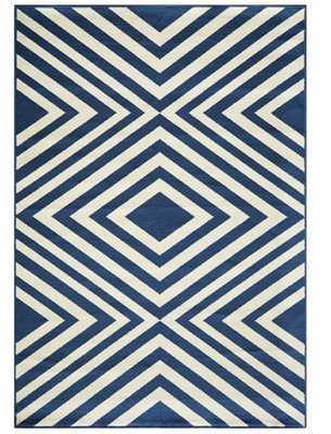 """PAYLN INDOOR/OUTDOOR RUG, BLUE 7'10""""x10'10"""" - Loma Threads"""